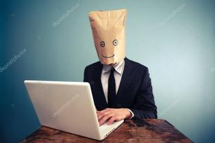 depositphotos 40349923 stock photo businessman with bag over head