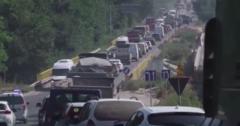 Ремонт мостов на трассе Кишинёв - Полтава: водители простаивают в огромных пробках