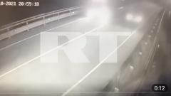 Эксклюзив: Смертельное ДТП с Собчак попало на видео. «Фольксваген» взлетел, в автобусе оторвало поручень