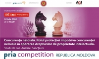 PRIAevents, Consiliul Concurentei Republica Moldova și AGEPI vă invită la prima dezbatere online despre concurența neloială și despre rolul protecției împotriva concurenței neloiale în apărarea drepturilor de proprietate intelectuală