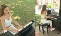 В Кишинёве появилось первое уличное пианино
