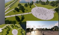 """În parcul """"La izvor"""" a început amenajarea a două stadioane multifuncţionale"""