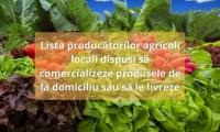 LISTA cu producătorii locali de alimente care livrează acasă